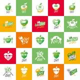 Vector logo for diet. Logo design template for diet. Vector illustration of icon Stock Image
