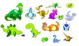 The Vector logo dinosaur for T-shirt design Stock Image