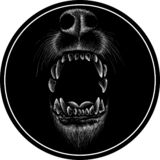 The Vector logo dog  or wolf for tattoo or T-shirt design or outwear.  Cute print style dog  or wolf  background.