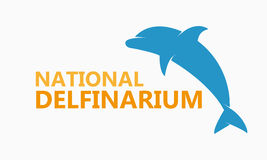 Vector logo dolphinarium Royalty Free Stock Image