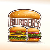 Vector logo double burgers Royalty Free Stock Photo