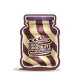 Vector logo Duo swirl Chocolate Spread Jar Royalty Free Stock Photos