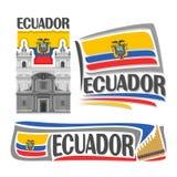 Vector logo Ecuador Royalty Free Stock Photo