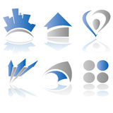 Vector logo elements. Abstract vector illustration of logo and design elements Stock Photos