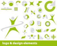 Vector logo elements. Abstract vector elements for logo and design, colour is editable Stock Photos