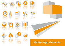 Vector logo elements. Abstract vector logo element illustrations Royalty Free Stock Photography