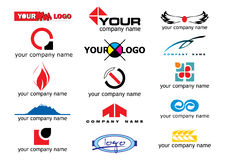 Vector logo elements Royalty Free Stock Photos