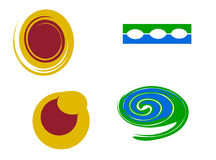 Vector logo elements. Isolated on white background royalty free illustration