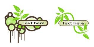 Vector Logo Elements Set Envir Stock Photo