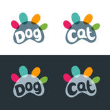 Vector logo, emblem, label design elements for pet shop, zoo shop, pets care and goods for animals. Stock Photos