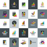 Vector logo Finance. Finance logo design template. Vector illustration of icon Royalty Free Stock Photos