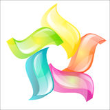 Vector logo. A vector logo with five colorful petals Stock Photography
