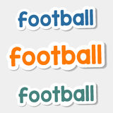 Vector logo Football on a light background Royalty Free Stock Photography