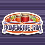 Vector Logo For Homemade Jam Stock Photos
