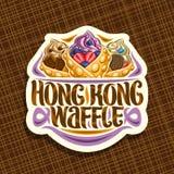 Vector Logo For Hong Kong Waffle Stock Photos