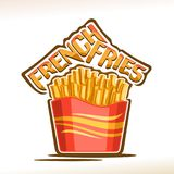 Vector logo for French Fries Stock Photography