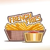 Vector logo for French Fries Stock Image