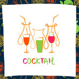 Vector logo for fresh fruit coctail. Illustration  Royalty Free Stock Image