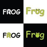 Vector logo FROG  for company Royalty Free Stock Photos