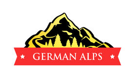 Vector Logo of German Alps Stock Image