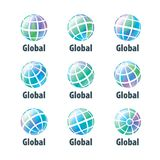 Vector logo globe Royalty Free Stock Image