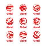 Vector logo globe Royalty Free Stock Photos