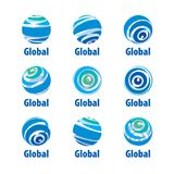 Vector logo globe Stock Image