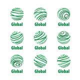Vector logo globe Royalty Free Stock Photo