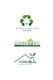 Vector logo green. Vector logo for the green company Royalty Free Stock Photos