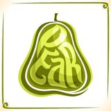 Vector logo for green Pear Royalty Free Stock Photography