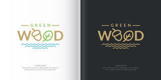Vector logo green wood. Royalty Free Stock Photography