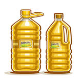 Vector Logo große Plastikflaschen mit Maisöl lizenzfreie abbildung
