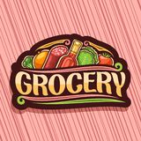 Vector logo for Grocery Store vector illustration