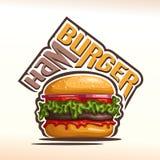Vector logo for Hamburger Royalty Free Stock Photography