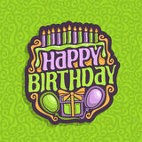 Vector logo Happy Birthday Royalty Free Stock Photos