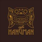 The vector logo. Head of Hanuman. royalty free illustration