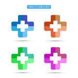 Vector logo health care hospital design Royalty Free Stock Images