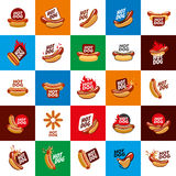 Vector logo hot dog Stock Photography