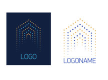 Vector logo house of dots Stock Image