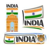 Vector logo India Royalty Free Stock Photography