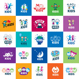 Vector logo kids stock illustration