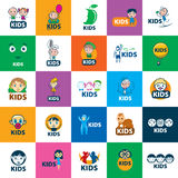 Vector logo kids Royalty Free Stock Image