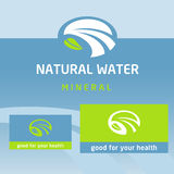 Vector logo, label natural product. Clean, eco Stock Images