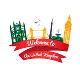 Vector logo landmarks of United Kingdom Royalty Free Stock Photos