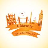 Vector logo landmarks of United Kingdom Royalty Free Stock Image