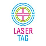 Vector logo for laser tag and airsoft stock photography