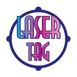 Vector logo for laser tag and airsoft stock image