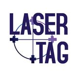 Vector logo for laser tag and airsoft royalty free stock images