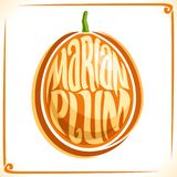 Vector logo for Marian Plum Royalty Free Stock Images
