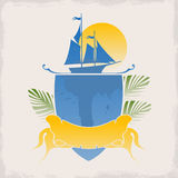 Vector logo for the marine theme Royalty Free Stock Image